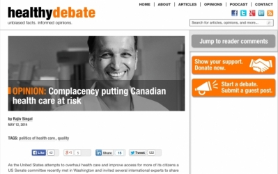 Complacency is Biggest Threat to Canadian Health Care System